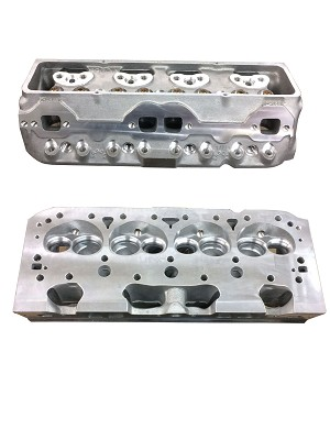 "Brodix Small Block Chevy Aluminum ""STREET HEADS"" PAIR PRICING"